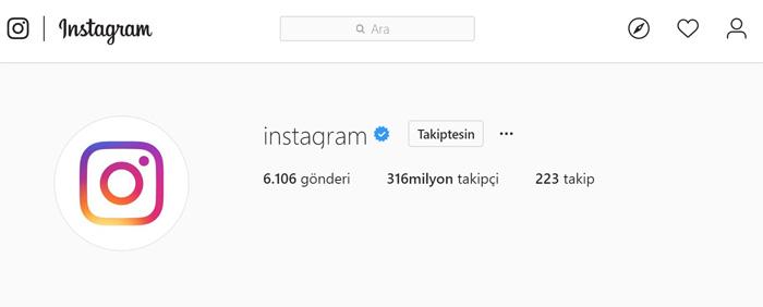Instagramda mavi tik