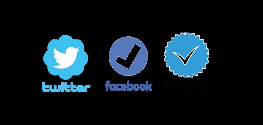 Twitter Facebook Instagram Mavi Tikleri birbirinden farklı